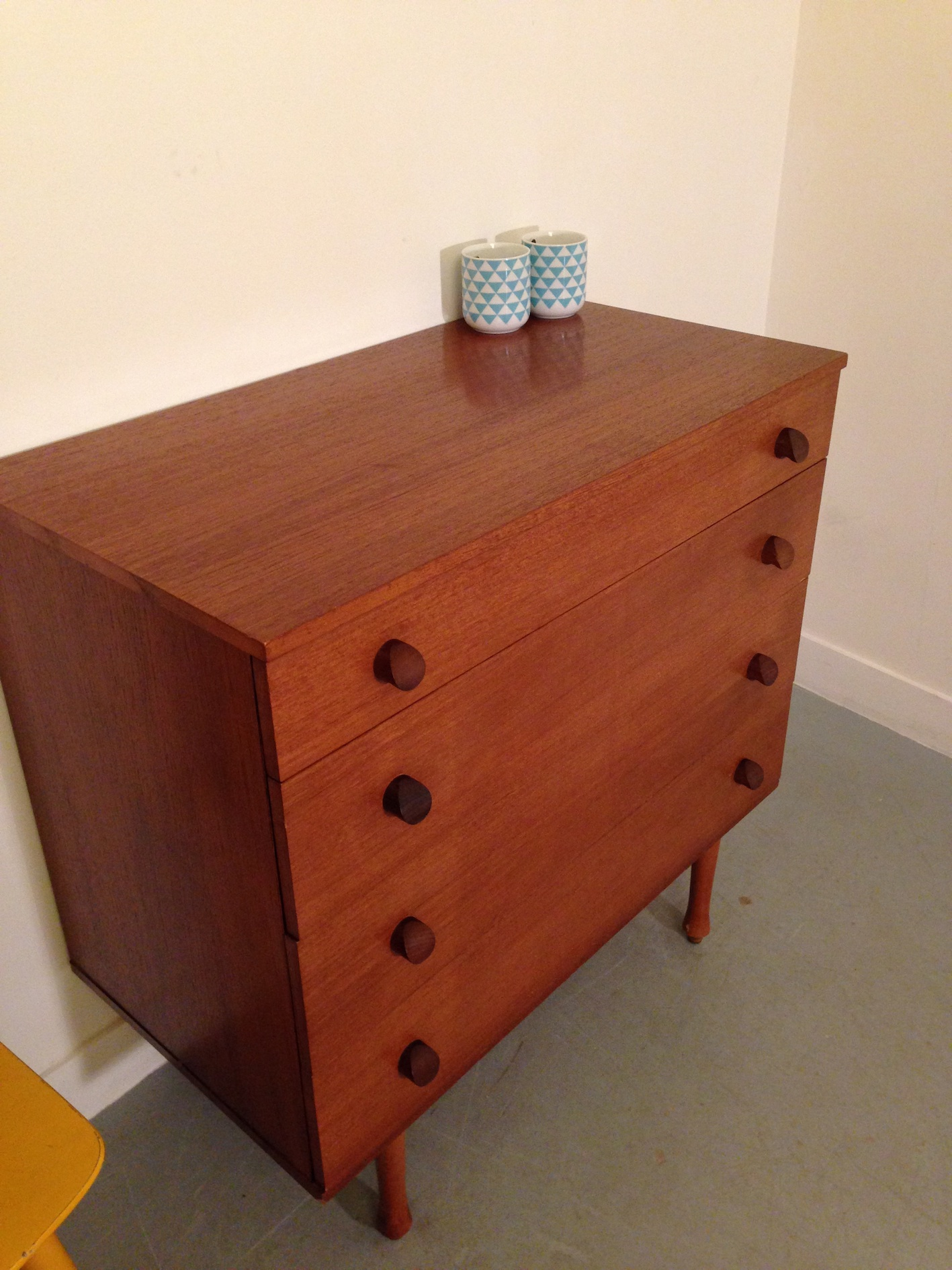 commode 6 tiroirs vintage